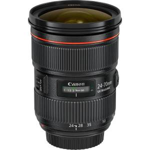 "Canon - 24 mm to 70 mm - f/2.8 - Zoom Lens for Canon EF/EF-S - 82 mm Attachment - 2.9x Optical Zoom - USM - 3.5""Diameter"
