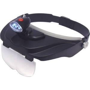 """Carson MagniVisor Deluxe - CP-60 - Magnifying Area 4"""" Diameter - Overall Size 3.5"""" Height x 9.8"""" Width - Acrylic Lens"""