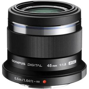 "Olympus M.ZUIKO DIGITAL - 45 mm - f/1.8 - Fixed Focal Length Lens for Micro Four Thirds - 37 mm Attachment - 0.11x Magnification - 1.8""Diameter"