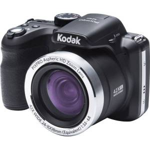 "Kodak PIXPRO AZ421 16.2 Megapixel Compact Camera - Black - 3"" LCD - 42x Optical Zoom - 4x Digital Zoom - Optical (IS) - 4608 x 3456 Image - 1280 x 720"