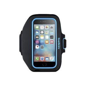 Belkin Sport-Fit Plus Carrying Case (Armband) Apple iPhone 6 Smartphone - Blacktop, Topaz - Neoprene - Armband