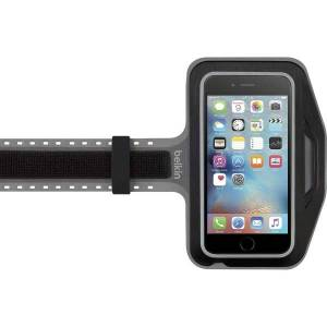 Belkin Slim-Fit Plus Carrying Case (Armband) Apple iPhone 6s Plus, iPhone 6 Plus Smartphone - Black - Fabric, Neoprene - Armband