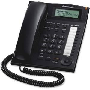 Panasonic KX-TS880B Integrated Telephone System with 10 One-Touch Dialer Stations in Black