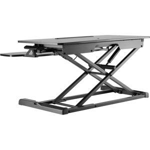 Amer Mounts EZriser30 - Standing desk converter - rectangular with contoured side - black