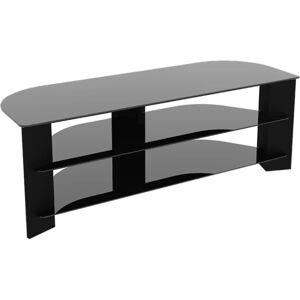 "AVF FS1300VARBB-A: Reflections - Varano Corner TV Stand - Up to 65"" Screen Support - 154.32 lb Load Capacity - 3 x Shelf(ves) - Black"