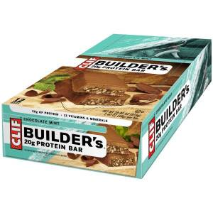 Clif Bar Builder's Chocolate Mint Protein Bars, 2.4 Oz, Box Of 12 Bars