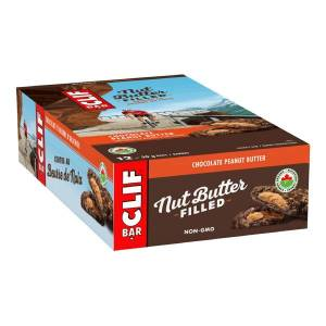 Clif Bar Nut Butter Filled Chocolate Peanut Butter Bars, 1.76 Oz, Box Of 12 Bars