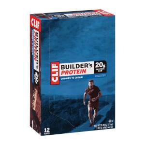 Clif Bar Clif Builder's Protein Bar Cookies & Creme 2.4 oz, 12 Count