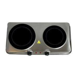 MegaChef Dual-Burner Electric Infrared Cooktop Buffet Range, Steel
