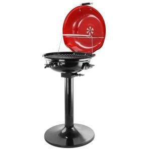 """Better Chef 15"""" 1600W Electric Barbecue Grill, Red"""
