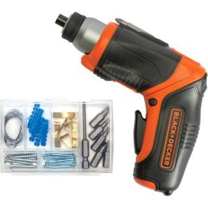 Black & Decker 4V MAX Lithium Pivot Screwdriver with Accessories - Driver Drill - Cordless - Lithium Ion (Li-Ion)