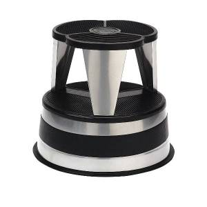 "Cramer Kik-Step Steel 1-Step Rolling Step Stool, 350 Lb Capacity, 14"" x 15 5/8"", Silver"
