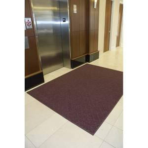 Enviro Plus Floor Mat, 3' x 10', Maroon