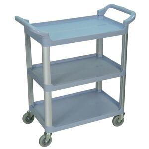"""Luxor 3-Shelf Serving Cart, 36 3/4""""H x 33 1/2""""W x 16 3/4""""D, Gray"""
