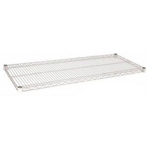 "Focus Foodservice Chrome-Plated Wire Shelf, 2""H x 24""W x 18""D"