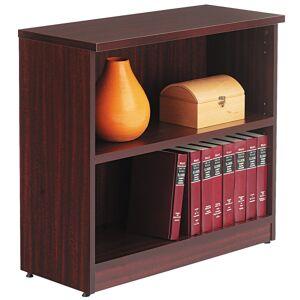 Alera Valencia Series Bookcase/Storage Cabinet, 2 Shelves, Mahogany