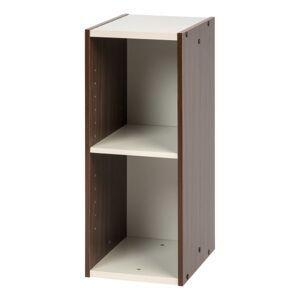 """IRIS Sema Series 24""""H Narrow Space-Saving Shelf, Walnut Brown"""