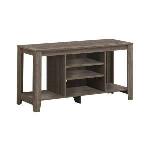 "Monarch Specialties Ezra TV Stand, 24-1/4""H x 47-3/4""W x 17-1/4""D, Dark Taupe"