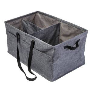 "Honey Can Do Large Trunk Organizer, 13"" x 15-3/4"" x 25-1/2"", Gray"