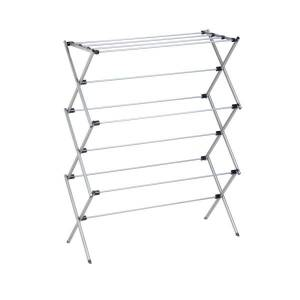 """Honey Can Do Honey-Can-Do Deluxe Oversize Metal Drying Rack, 45 1/2""""H x 14 1/2""""W x 35 1/2""""D, Silver"""