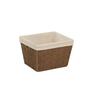 Honey Can Do Honey-Can-Do Paper Rope Storage Tote With Liner, Medium Size, Brown