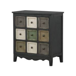 """Coast to Coast 3-Drawer Chest With AC/USB, 29-1/2""""H x 27""""W x 14""""D, Multicolor"""