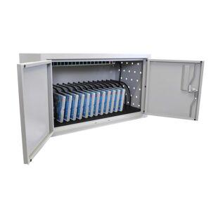 "Luxor 16 Tablet Wall/Desk Charging Box, 14 1/2""H x 25""W x 13""D, Gray"