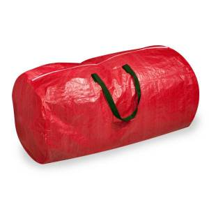 """HONEY-CAN-DO INTERNATIONAL, LLC Honey-can-do SFT-01316 Artificial Tree Storage Bag, Red - Extra Large Size30"""" Width x 55"""" Length - Red - Polyester - Artificial Tree"""
