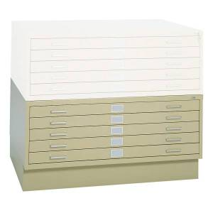 """Safco 5-Drawer Steel Flat File, 40 3/8""""W x 29 3/8""""D, Tropic Sand"""