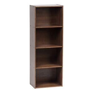 "IRIS 46""H 4-Tier Storage Shelf, Brown"