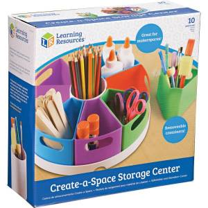 "Learning Resources 10-piece Storage Center - 4.6"" Height x 12"" Width x 12"" Length - Multi - 8 / Each"