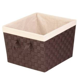 Honey Can Do Honey-Can-Do Task-It Double-Woven Basket With Liner, Medium Size, Espresso