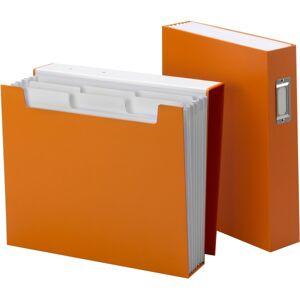 "Smead SuperTab Bookshelf Organizer - Letter - 8 1/2"" x 11"" Sheet Size - 6 Pocket(s) - Orange - 1 Each"
