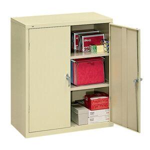 """HON Brigade Storage Cabinet, 2 Adjustable Shelves, 41 3/4""""H x 36""""W x 18 1/4""""D, Putty"""