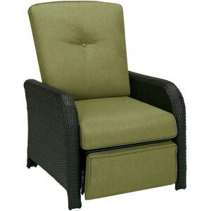"Hanover Strathmere Luxury Recliner in Cilantro Green - Cilantro Green Olefin Seat - Cilantro Green Olefin Back - Espresso Brown Steel Frame - 21"" Seat"