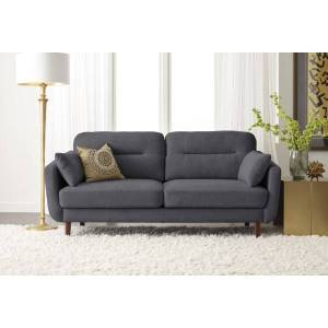 Serta Sierra Collection Sofa, Slate Gray/Chestnut