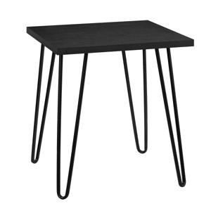 Ameriwood Home Owen Retro End Table, Square, Black Oak/Black