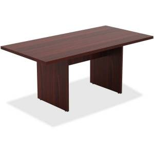 Lorell Chateau Series Rectangular Conference Table Top, 6'W, Mahogany