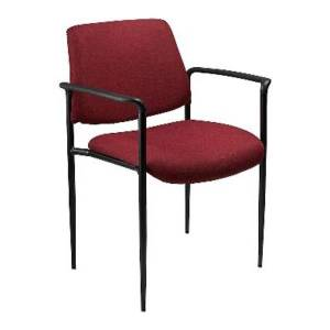 Boss Stackable Fabric Chair, Burgundy