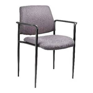 Boss Stackable Fabric Chair, Gray