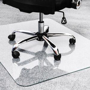 "Floortex Glaciermat Glass Chairmat - Home, Office, Hard Floor, Pile Carpet - 60"" Length x 48"" Width - Rectangle - Glass - Clear"