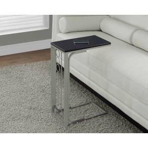 Monarch Specialties Accent/Snack Table, Rectangular, Cappuccino/Champagne