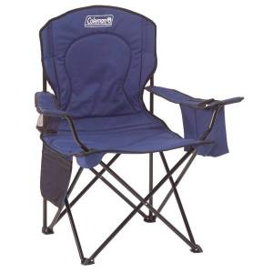 Coleman Quad Chair with Cooler, Blue
