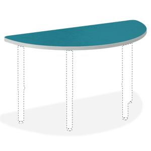"HON Build Half-Round Table Top, 1 3/16""H x 60""W x 30""D, Blue Agave"
