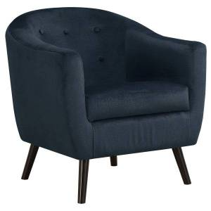 Monarch Specialties Mosaic Velvet Fabric Accent Chair, Dark Blue/Black