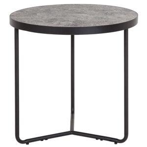 "Flash Furniture Round End Table, 19-1/2""H x 19-1/4""W x 19-1/4""D, Black/Concrete"