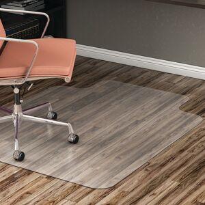 "Realspace Hard-Floor Chair Mat, Wide Lip, 45"" x 53"", Translucent"