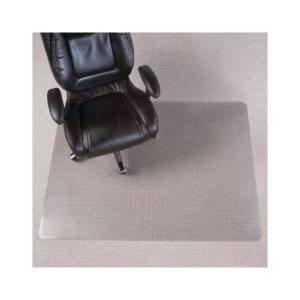 """Realspace Chair Mat For Thin Commercial-Grade Carpets, Berber, Rectangular, 46"""" x 60"""", Clear"""