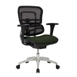 WorkPro 12000 Series Mesh/Fabric Mid-Back Manager's Chair, Olive/Black/Chrome