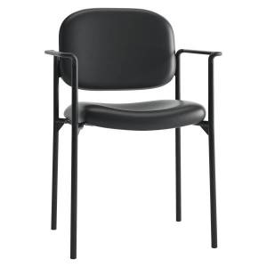 HON� Scatter SofThread� Fixed Arm Stacking Guest Chair, Black